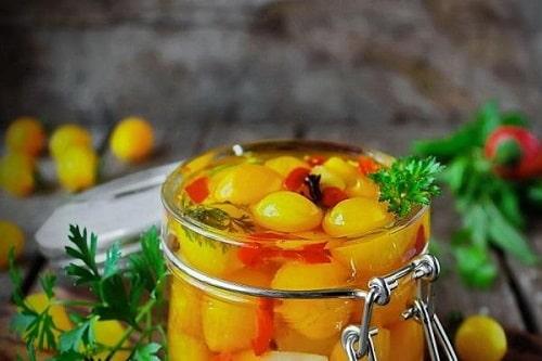 желтые помидоры салаты на зиму