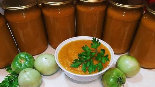 икра из зелёных помидоров на зиму рецепт