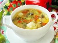 как сварить овощной суп без мяса рецепты