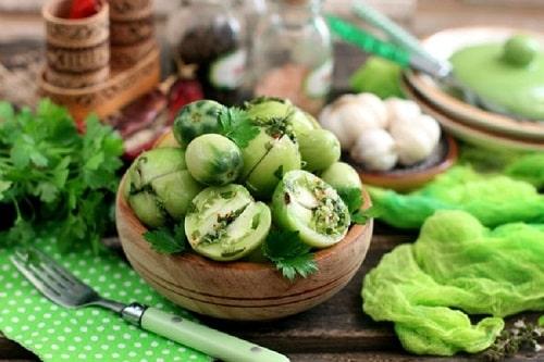 квашеные зелёные помидоры рецепты