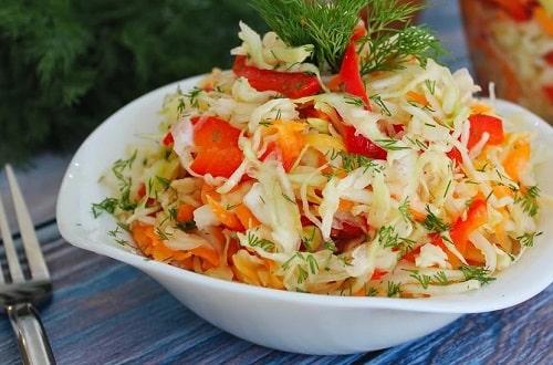 маринованная капуста быстрого приготовления с болгарским перцем – рецепт