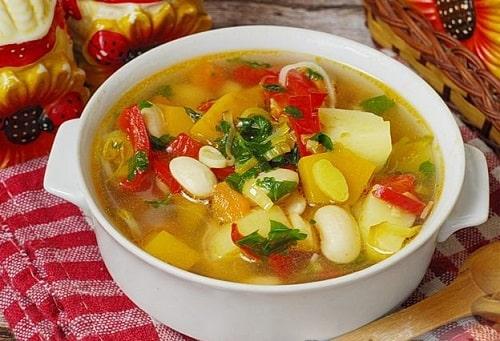овощной суп без мяса рецепт