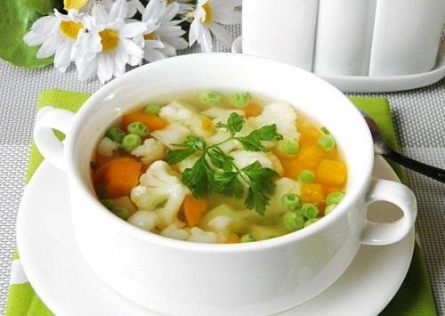 овощной суп без мяса с брокколи