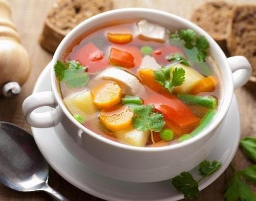 постный овощной суп без мяса