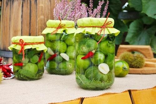 зелёные помидоры соленые
