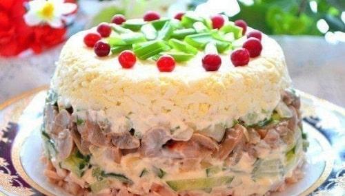 Салат с маринованными шампиньонами рецепты