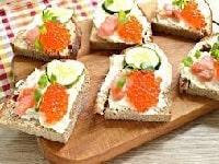 бутерброды с форелью рецепты