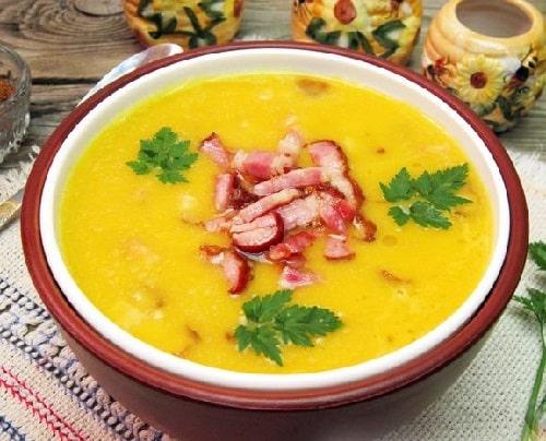 гороховый суп пюре с копченостями