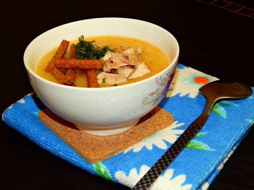 гороховый суп пюре с курицей