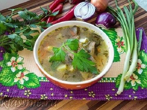 как варить постный грибной суп
