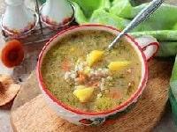 Постный грибной суп - вкусный рецепт из шампиньонов и перловки