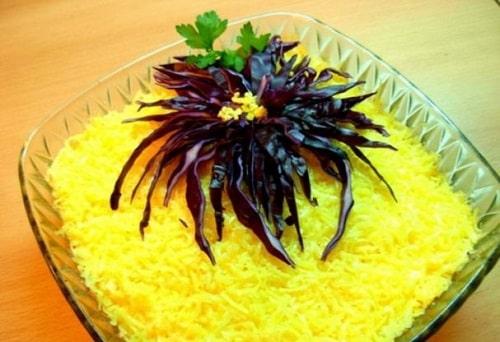 салат хризантема рецепт