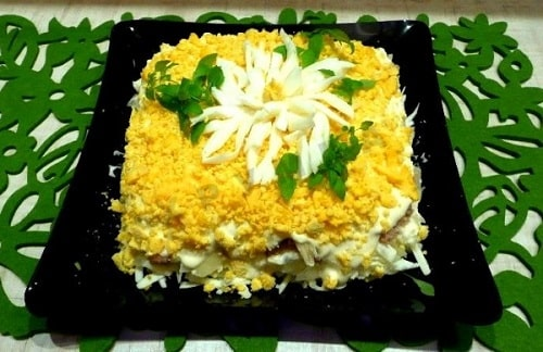 салат хризантема рецепты